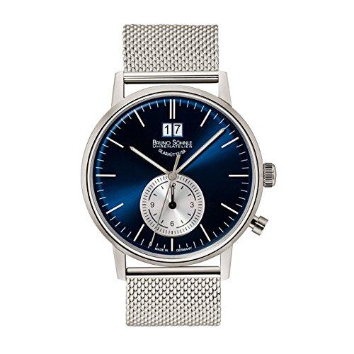 Bruno Söhnle Herren Analog Quarz Uhr mit Edelstahl Armband 17-13180-340