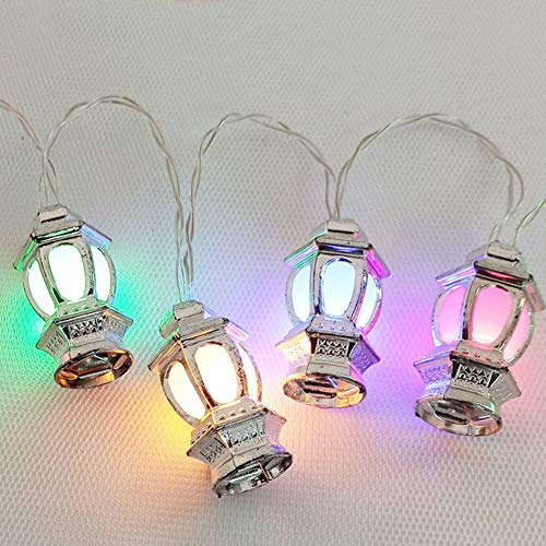 Apofly Muslim Ramadan String Lights,led String Lights Muslim Ramadan Moon Star Led Fairy Lights 1.65m for Eid Ornaments Ramadan Party Decoration