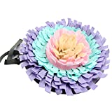 IFOYO Pet Snuffle Mat, Dog Feeding Mat Small Dog Training Pad Pet Nose Work Blanket Non Slip Pet Activity Mat for Foraging Skill, Stress Release, (D Flower, Diameter: 17.7in / 45cm)