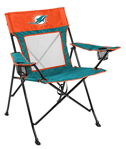 Rawlings NFL Game Changer Large Folding Tailgating and Camping Chair, with Carrying Case, Miami Dolphins