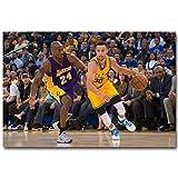 XQWZM Basketball Kunst Poster Drucke, Stephen Curry Vs Kobe