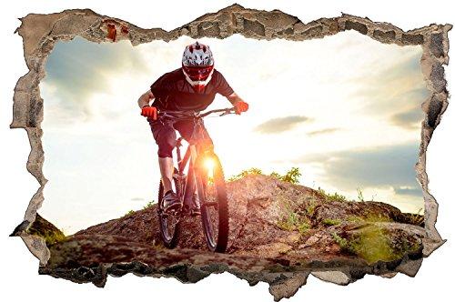 Fahrrad Biker Bike Sport Wandtattoo Wandsticker Wandaufkleber D0598 Größe 60 cm x 90 cm