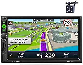 comprar comparacion Reakosound Reproductor MP5 7157G de 7 pulgadas Radio 2 din 1080P HD Pantalla Táctil Bluetooth GPS de navegación Car Stereo...