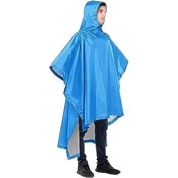 Reusable Adult Poncho Raincoat Waterproof Unisex Camping Hiking New Rain Coat