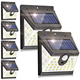 Solar Motion Sensor Light Outdoor, [6 Pack/3 Modes/40 LED] LANSOW Solar Powered Security Lights Wireless IP 65 Waterproof Lights for Wall Deck Yard Garage Porch Garden Patio Fence(6pk-Black)