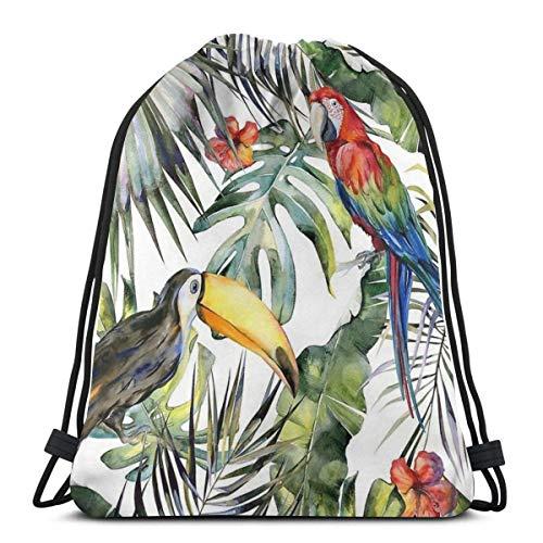 Kordelzug Rucksack Herrliche Tropische Dschungel wasserdichte Kordelzug Rucksack Erwachsene Wandern Sport Rucksack Aufbewahrungstasche