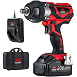 NoCry 20V Cordless Impact Wrench Kit - 300 ft-lb (400 N.m) Torque, 1/2 inch Detent Anvil, 2700 Max...