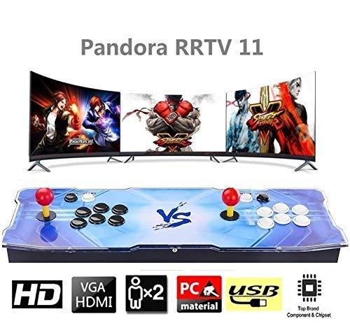 XOあ Consola Retro Arcade Games, 3003 Retro Classic Video Game, Pandora Box 11 Arcade Machine con Arcade Stick y Button, Conexión con VGA y HDMI, 1280x720 Full HD (3003 Games)