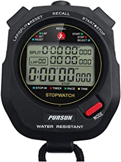 Professional Timer Stopwatch,  Digital Sports Stopwatch with Countdown Timer,  100 Lap Memory,  0.001 Second Timing, Water Resistant, Multi Functional Stopwatch for Swimming Running Training etc