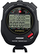 Professional Timer Stopwatch, Digital Sports Stopwatch with Countdown Timer, 100 Lap Memory, 0.001 Second Timing ,Water Re...