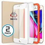 Manto 2 Stück Schutzfolie kompatible mit iPhone 8 Plus/7 Plus/6S Plus/6 Plus 5,5