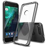 Ringke Fusion Compatible with Google Pixel Case Crystal Clear PC Back TPU Bumper Drop Protectio…