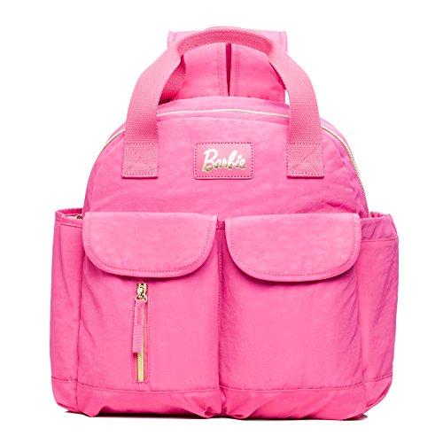 Barbie Mochila práctica de Estilo Clásico y Casual Mochila para Mujer BBBP180# 30x35x12CM (Fucsia)