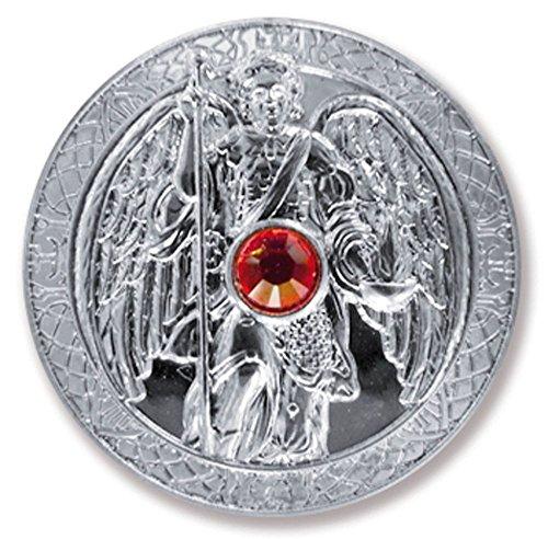 Talisman Barth Arcángel Uriel ángel de la guarda, de diámetro 27 mm bebé de plata con cristales de Swarovski Elements, amuletos de la suerte, de la suerte