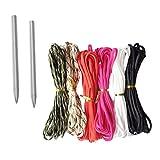 lahomia 6pcs 5m Cable de Paracaídas 7 Hilos + 2pcs