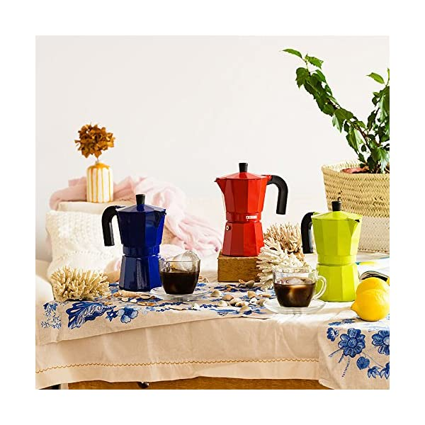 Monix M281703 M281703-Cafetera Italiana, 3 Tazas, Color Fresa, Aluminio,