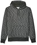 Amazon Essentials Men's Hooded Fleece Sweatshirt, Charcoal Space-Dye Large