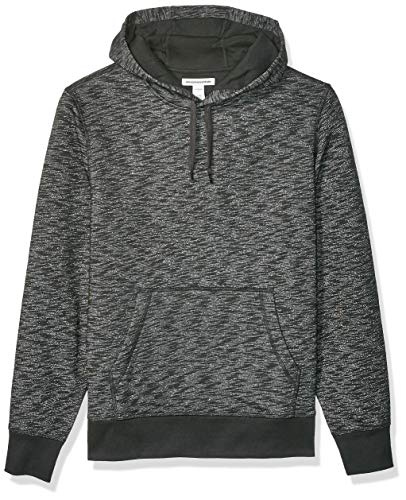 Amazon Essentials Men's Hooded Fleece Sweatshirt, Charcoal Space-Dye, Large