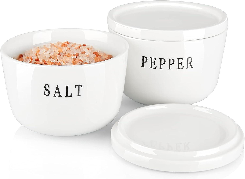 Salt and Dedication Pepper Under blast sales Bowls ALELION Cellar oz Ceram 10 with Lid
