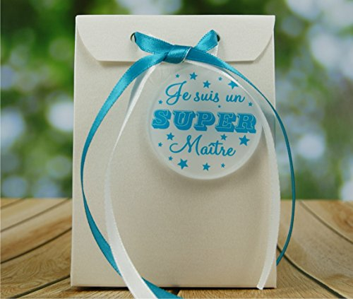 Boite de Chocolat garnie Je suis un Super Maître - Idée de Cadeau Original Fin d'Année Scolaire noël remerciement. L'école est finie ! Vive les Vacances ! BtEcB