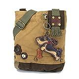 Chala Patch Crossbody Bag'Weiner Dog' Dachshund Multi-color (Brown)