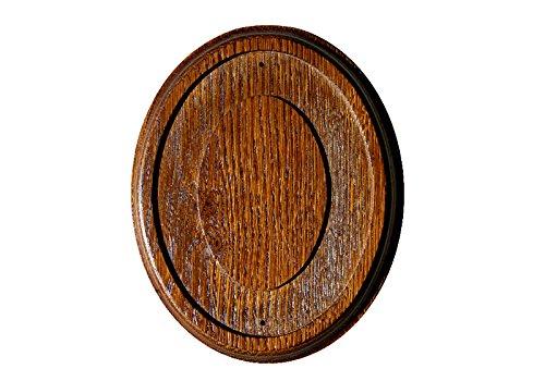 Rahmen Holz Oval für Emaille Schild Holzrahmen Oval (Eiche Rustikal) für Emailschilder.
