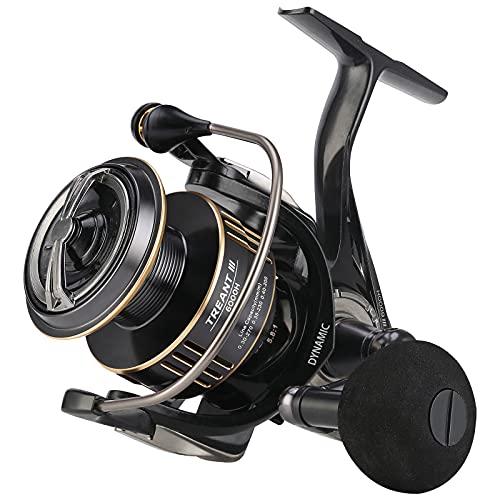 Seaknight Treant III Carrete Giratorio de Agua Dulce 5.0:1 5.8:1 Carrete de Pesca de Carpas 6000 Arrastre máximo 29 lbs / 13 kg