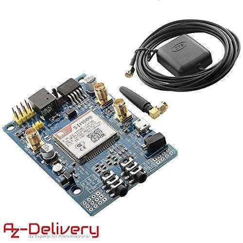 AZDelivery SIM 808 GPRS/GSM Shield mit GPS Antenne kompatibel mit Arduino inklusive E-Book!