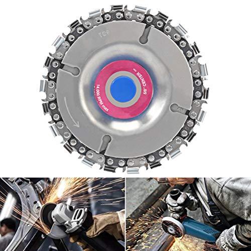 Qiekenao Grinding Disc Chain Plate, voor Hoek Grinders Grinder Center Gaten Houtbewerking Circulaire zaagbladen Eén maat Rood