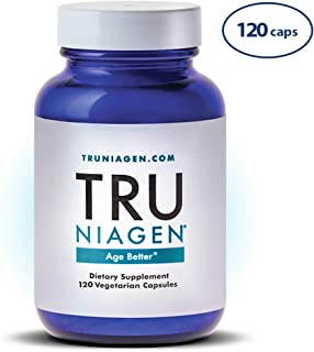 TRU NIAGEN Nicotinamide Riboside - Patented NAD Booster for Cellular Repair & Energy, Vitamin B3 Niacin NMN, 150mg Vegetarian Capsules, 300mg Per Serving, 60 Day Bottle