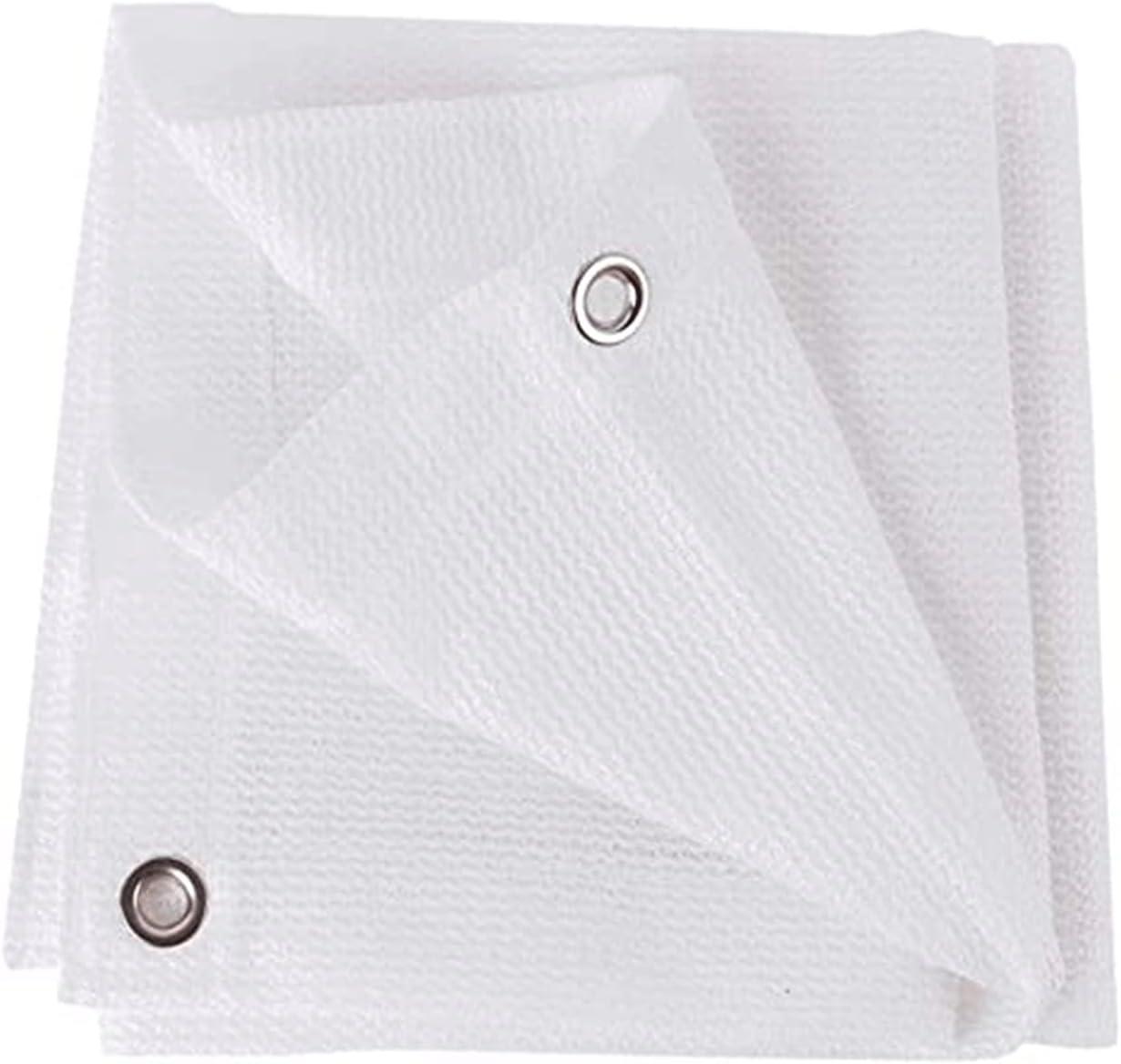 QBV Outdoor [Alternative dealer] White 80% Sun Mesh Virginia Beach Mall Sunblock Shade Cloth with Grommet