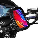 Soporte movil moto impermeable con cargador rapido telefono movil funda impermeable compatible con smartphones de hasta 6.9' soporte móvil moto soporte movil para moto