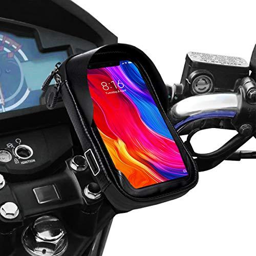 "Soporte movil moto impermeable con cargador rapido telefono movil funda impermeable compatible con smartphones de hasta 6.9"" soporte móvil moto soporte movil para moto"