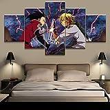 5 piezas Los siete pecados capitales Melioda Cuadros en Lienzo arte decoración del hogar lienzo imagen animación...