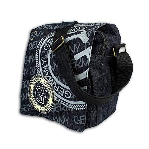 Germany Stempel Umhängetasche schwarz Silber matt Baumwolle Robin Ruth D4OTG2071S Umhängetasche präsentiert von IMPPAC