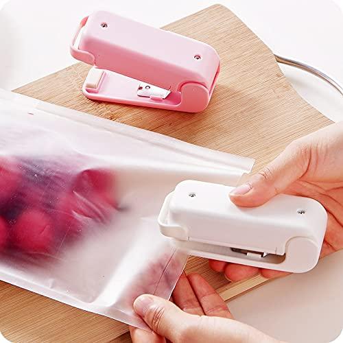 Mini máquina de sellado portátil para el hogar, bolsa de plástico para alimentos, embalaje de sellado portátil (color al azar)