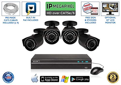 Review 4MP Super HIGH Definition 4 Channel Network Video Recorder with 4 IP Infrared Bullet Camera -...