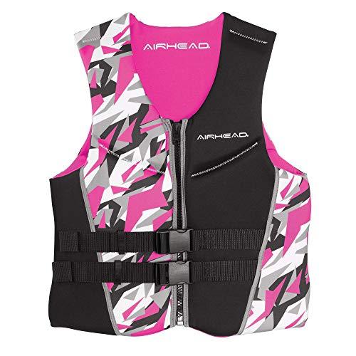 Airhead Women's CAMO COOL Kwik-Dry Neolite Flex Life Jacket, Pink, Large