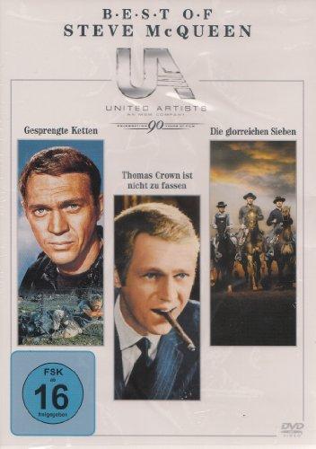 Steve McQueen Box : Gesprengte Ketten - Thomas Crown ist nicht zu fassen - Die glorreichen Sieben - 3 DVD Box