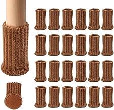 24 PCS Gebreide Stoelpoot Sokken Hoge Elastische Meubels Sokken Pads Antislip Meubels Voeten Caps Covers voor Beschermen F...