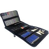 Ysswjzz Lápiz de Color Conjunto, 72 Piezas Pintura Conjunto de carbón Borrador Arte del Sistema de Cepillo for Colorear Dibujo Escritura del Libro de bocetos y diseños Doodling