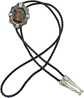 Coralup Classical Gold Plated Capital Letters Western Cowboy Bolo Tie