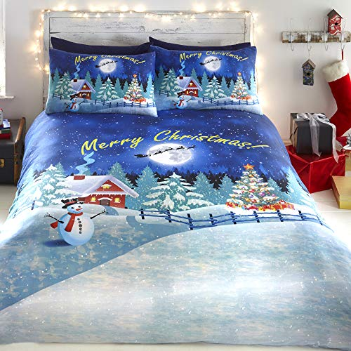 Fusion Glow in The Dark-Easy Care Duvet Cover Set, Polycotton, Multicolour, King