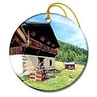 Les Houches フランス Parc de Merletクリスマスオーナメントセラミックシート旅行お土産ギフト