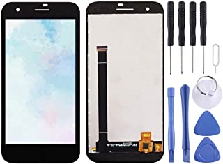 Repair Parts LCD Screen and Digitizer Full Assembly for Vodafone Smart E8 VFD510(Black) Spare Parts (Color : Black)