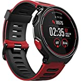 Coros Pace GPS Multisport Watch with Wrist-Based Heart Rate Sensor, Triathlon Features, Barometric Altimeter and Strava & TrainingPeaks Compatible, Red/Black