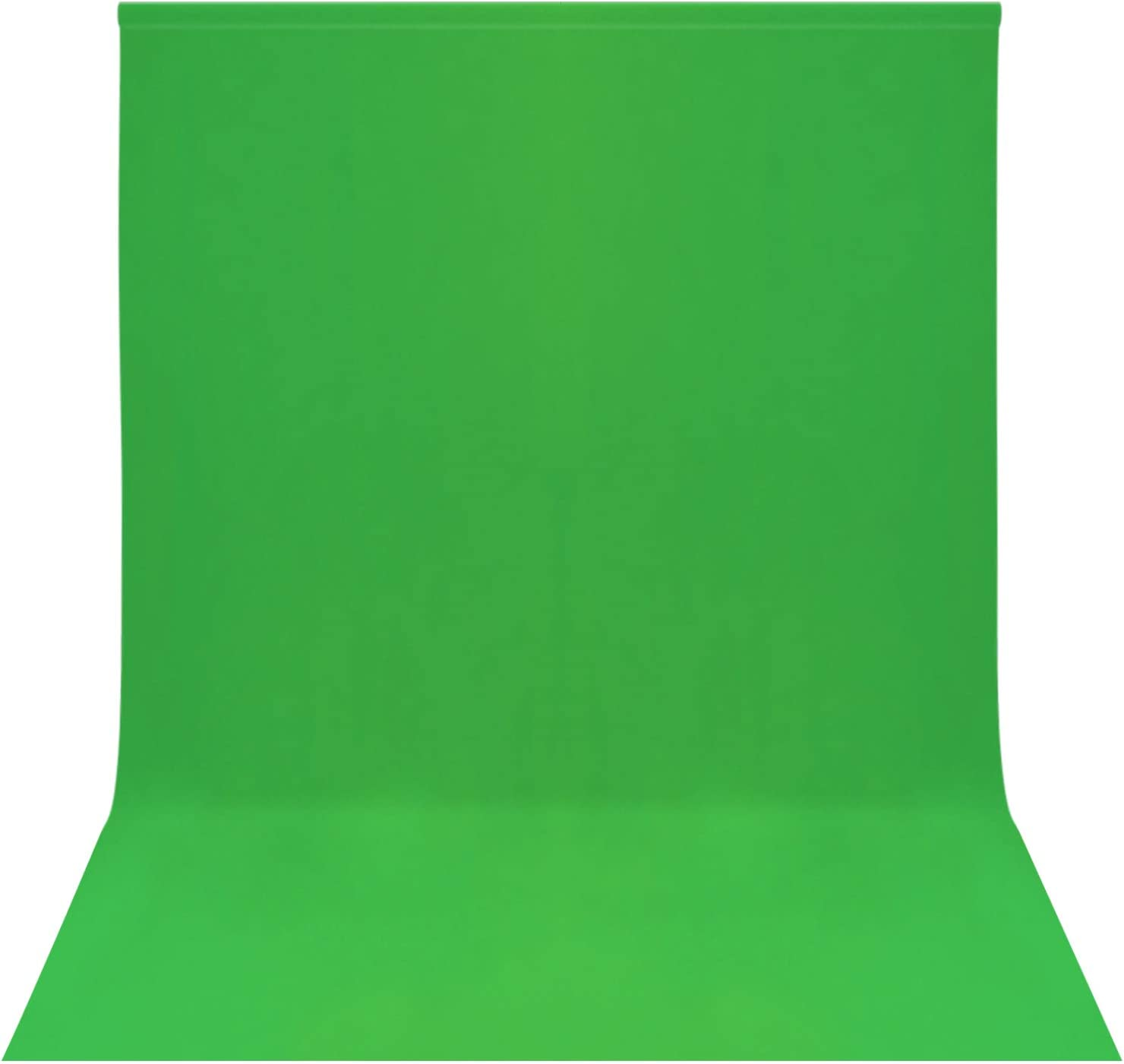 Easy-Going 6X9 5 ☆ very popular ft 1.8X2.8M Green Photography Col Topics on TV Backdrop Solid