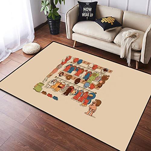 Coobal Super Mar-io Odyssey - Alfombra de suelo para yoga, antideslizante, para niños, dormitorio, 3 x 5 pies, 90 x 150 cm