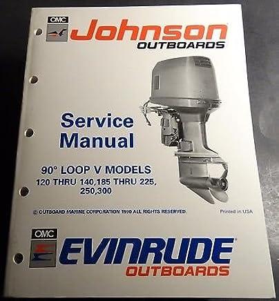 1993 OMC EVINRUDE JOHNSON 120, 185, 225, 250, 300 SERVICE
