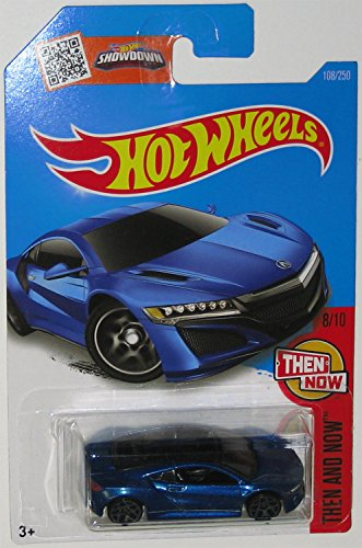 Hot Wheels 2016 Then and Now '17 Acura NSX 108/250, Blue